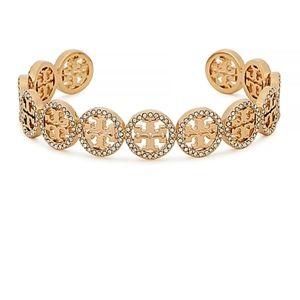 Tory Burch ■ Gold Miller Pave Cuff Bracelet